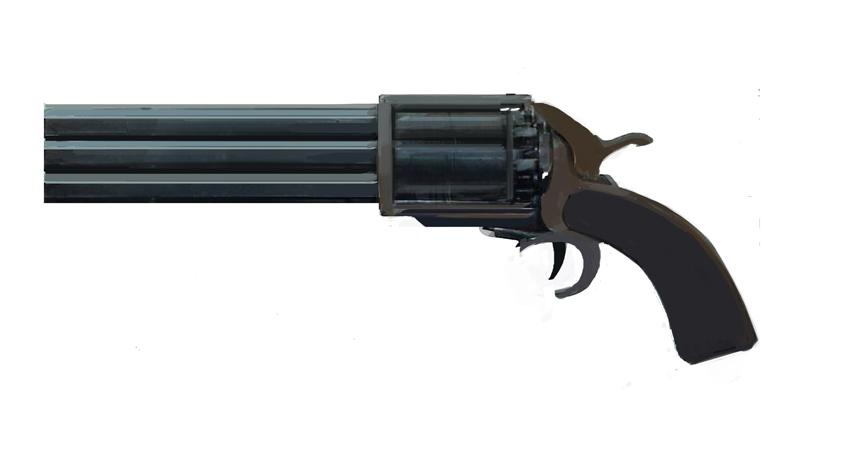 .25 VOLCANOESQUE multi-chamber handgun
