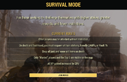 FO76 Survival mode start screen