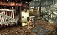 FO3 Sparkle in front of shack