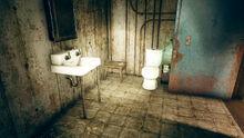 FO76 Ella Ames' bunker (note IOU toilet paper)