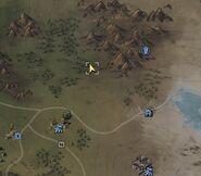 Birdwatcher's note location map