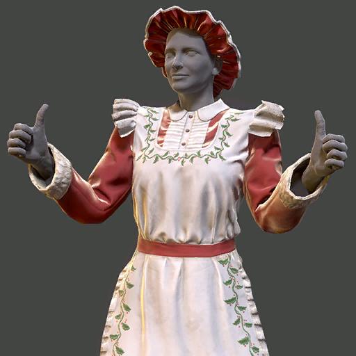 Mrs. Claus' dress