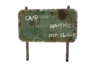 FNV Camp Guardian sign