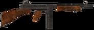 .45 Auto submachine gun with the compensator modification