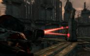BS Tri-beam laser rifle shot