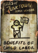 Jerky vendor - benefits of child labor