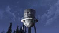 FO76 Huntersville Water Tower Close Up