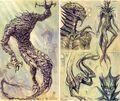 Potwór szkic