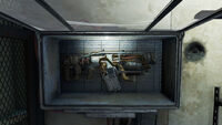 Vault 111 cryolator open display case