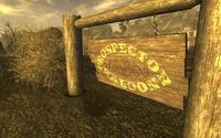 FNV Prospector Saloon front sign