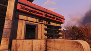 FO76 Morgantown monorail station front