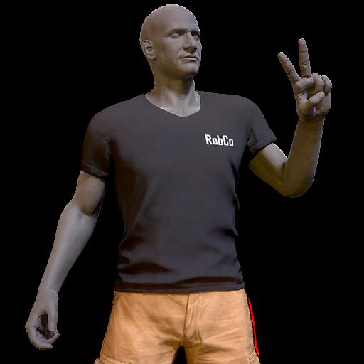 RobCo T-shirt and shorts