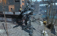 FO4 Liberty Prime throws a bomb