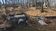 Walden Pond sewer entrance