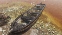 FO76 Pioneer Scout camp rowboat