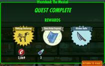 FoS Wasteland The Musical rewards