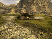 FNV Wrecked Highwayman View-west
