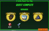FoS A Settler Needs Your Help rewards