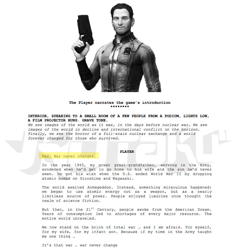 Парень из телефона аккаунт 2/Слитый сценарий Fallout 4 (2013 год)