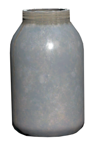 Dirt-filled jar