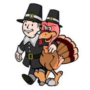 Thanksgiving Pilgrim bird VB