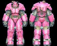 FO4CC X-01 power armor Slocum's Joe pink