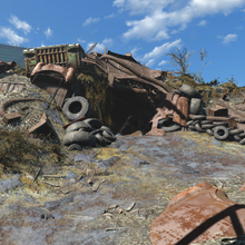 FO4 Rotten Landfill east entrance.png