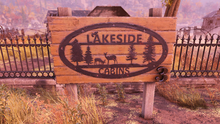 FO76 Lakeside cabins sign