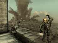 FO3BS Sentinel Lyons — Mobile base explosion