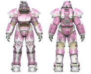FO4 T-51 power armor hot rod pink