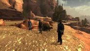 Entering zion canyon