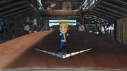 FO4 Unarmed Vault-Tec bobblehead in Atom Cats Garage