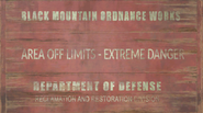 FO76 Black Mountain DOD Sign
