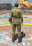 Military Fatigues, Back View (Male)