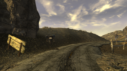 FNV Victor on the 160 north of the Goodsprings.png