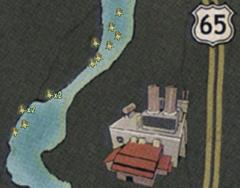 Swamp plant spawn locations