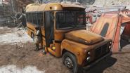 FO76 081120 School bus Crater