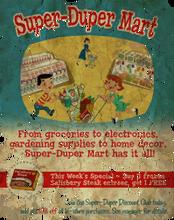 Super-Duper Mart hiring poster