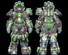 FO4CC Horse power armor green