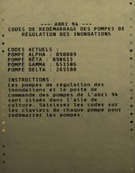FO76 Codes de redémarrage des pompes de l'Abri 94.png
