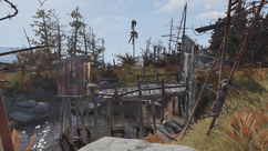 FO76 Raider outhouse and moat.png