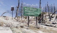 FO76 Road sign Wavy etc