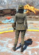 Dirty Army Fatigues,Back View (Female)