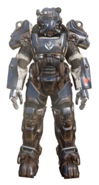 FO76 BOS knight power armor paint
