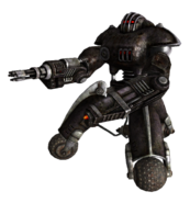 Enclave sentry bot minigun