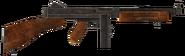 .45 Auto submachine gun with the drum magazine modification