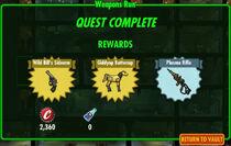 FoS Weapons Run rewards