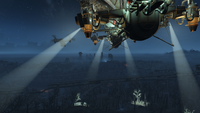 FO4 Prydwen's Spotlights In The Forest