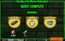 FoS Guardian of the Wastes Radroaches! rewards