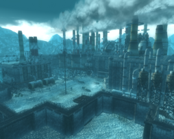 FO3 Chinese Occupied Refinery overlook.png